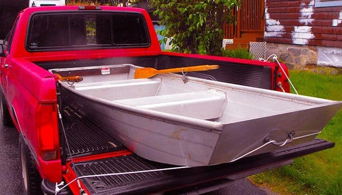 Truck Bed Mat with boat