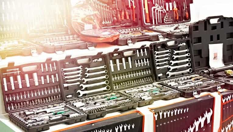 Tool kits for cars, trucks and tractors