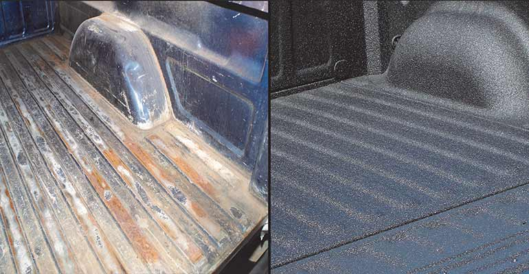 After Applying Linerxtreeme spray on Bedliner